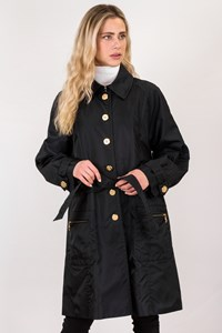 Escada Black Waterproof Trench Coat / Size: 42 EU - Fit: L