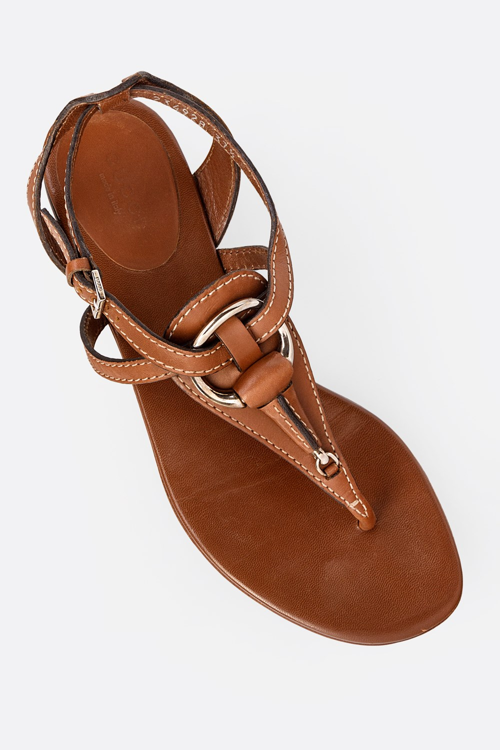 look for genuine shoes look out for Tan Leather Strappy Sandals / Size: 37.5- Fit: True to size ...