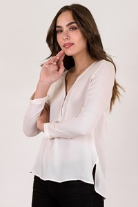 The Kooples White Silk Blouse / Size: M - Fit: S