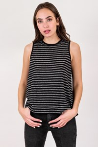 Rag & Bone Striped Sleeveless Linen Top
