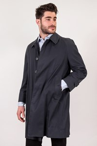 Burberry Blue Trench Coat with Raglan Sleeves / Size: 46 - Fit: M