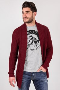 The Project Garments Burgundy Knitted Cardigan / Size: S - Fit: True to size