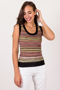 M Missoni Multicoloured Zig-Zag Tank Top / Size: 40 IT - Fit: XS