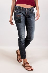 Dsquared2 Dark Blue Distressed Jeans / Size: 38 IT - Fit: XS