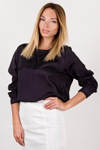 Dries Van Noten Black Longsleeve Blouse / Size: 38 - Fit: XS / S