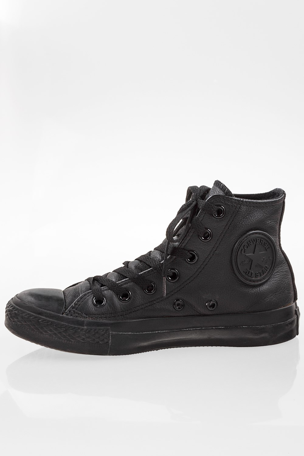 Starbags Products, Shoes, Trainers, Black Chuck Taylor All Star Mono Leather High Top Sneakers Size: 37 Fit: True to size, Starbags.gr