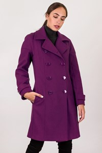 Paul & Joe Purple Wool Coat / Size: 40 - Fit: S