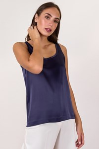 Royal Blue Sleeveless Top / Size: S - Fit: True to size