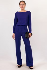 DVF Cynthia Cobalt Blue Jumpsuit / Size: 4 US - Fit: S