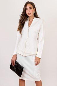 Thierry Mugler Vintage White Jacket and Skirt Suit / Size: 42 IT - Fit: S / M