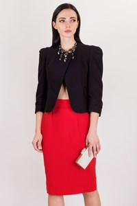 Thierry Mugler Red Vintage Pencil Skirt / Size: ? - Fit: M