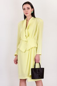 Thierry Mugler Vintage Lime Green Jacket and Skirt Suit / Size: 42 IT - Fit: S