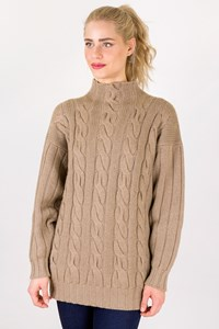 Pringle Scotland Beige Cashmere Knitted Sweater / Size: ? - Fit: M