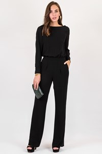 DVF Cynthia Black Jumpsuit / Size: 4 US - Fit: S
