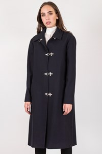 Céline Blue Midi Wool Coat / Size: 42 FR - Fit: M