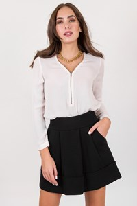 Sonia by Sonia Rykiel Black Wool Knit A-Line Skirt / Size: ? - Fit: S