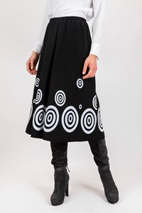 Themis Z Black Daphne Midi Skirt / Size: 36 - Fit: S / M