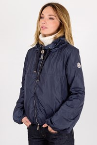 Moncler Blue Nylon Jacket with Removable Hood / Size: TU - Fit: S / Μ