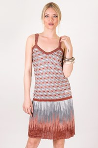M Missoni Multicolour Metallic-Thread Knitted Dress / Size: 40 IT - Fit: XS / S