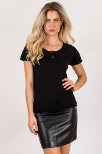 LOFT design by Black Cashmere Short Sleeve Top / Size: 3 - Fit: M / L