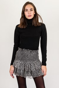 Isabel Marant Etoile Black-White Striped Mini Skirt / Size: 40 FR - Fit: S