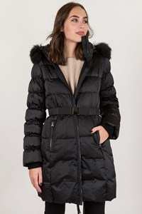 Sportmax Code Black Nylon Jacket with Hood / Size: 40 - Fit: S
