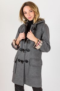 Burberry London Grey Wool Montgomery Coat / Size: 38 - Fit: XS / S