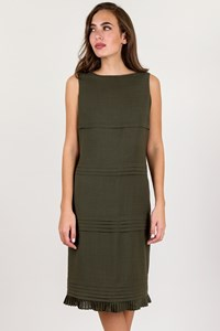 Valentino Miss V Olive Green Sleeveless Dress / Size: 44 IT - Fit: S / M