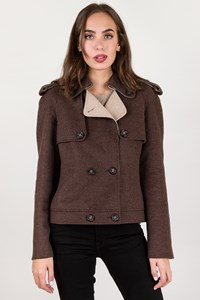 Tod's Brown Wool Felt Jacket / Size: 46 - Fit: M