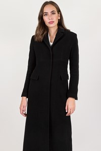 Karen Millen Black Wool Coat / Size: 8 - Fit: S