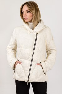 Hogan by Karl Lagerfeld Ivory Puffer Jacket / size: 44 - Fit: S