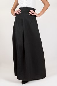 Les Satinees Black Embossed Maxi Skirt / Size: S - Fit: True to size