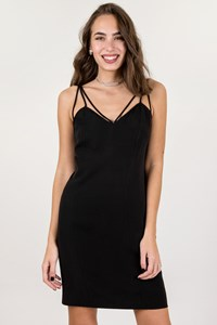 Dior Black MIni Dress with Straps / Size: 42 - Fit: S