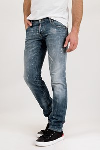 Dsquared2 Cool Guy Light Blue Distressed Jeans and Paint Stains / Size: 46 IT - Fit: M