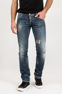 Dsquared2 Cool Guy Blue Distressed Jeans and Paint Stains / Size: 46 IT - Fit: M