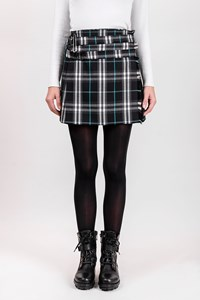Burberry London Tricolour Check Print Wool Mini Skirt / Size: 6 UK - Fit: XS / S