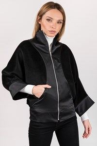 Stelios Koudounaris Black Felt Lightweight Jacket / Size: M - Fit: XS
