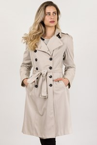 Burberry London Beige Cotton Trench Coat / Size: 16 UK - Fit: M