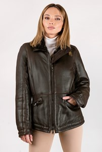 Prada Sport Brown Leather Jacket with Fur / Size: 46 IT - Fit: S / M