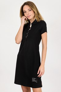 Burberry London Black Cotton Polo Dress / Size: S - Fit: XS