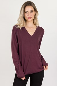 Burberry Brit Purple Wool Knitted Blouse / Size: XL - Fit: L