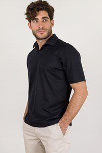 Cerruti 1881 Blue Cotton Pique Polo Top / Size: 52 - Fit: M