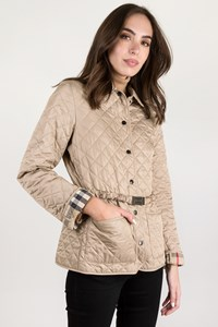Burberry Brit Beige Quilted Lightweight Jacket / Size: S - Fit: True to size