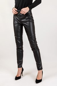 Free People Black Faux Leather Leggings / Size: 27- Fit: XS / S