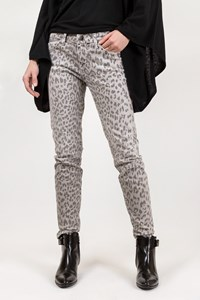 Current/Elliott The STilleto Grey Leopard-Print Jeans / Size: 27 - Fit: XS / S