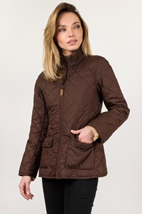 Ralph Lauren Brown Quilted Jacket / Size: XL - Fit: XS / S