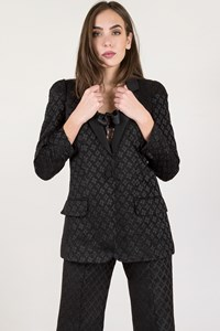 Chloé Black Embossed Pantsuit with Top / Size: T 38 - Fit: S