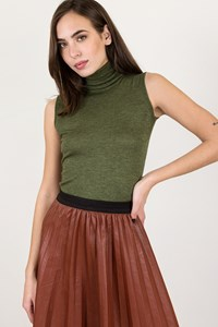 Etro Green Sleeveless Cashmere Turtleneck Top / Size: 40 IT - Fit: XS