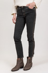 Blumarine Grey Jeans with Zippers / Size: 38 IT - Fit: XS / S