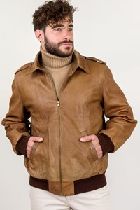 Valentino Tan Leather Jacket / Size: ? - Fit: M